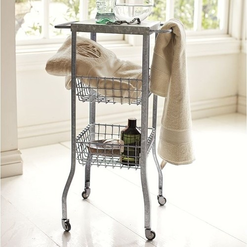 Great Galvanized Metal Floor Storage Pottery Barn   For The Downstairs Bath? Photo