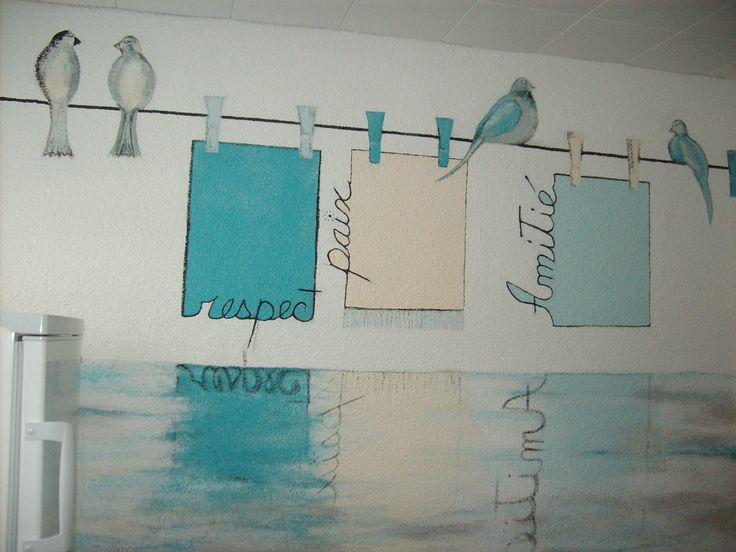 murale dans la salle de lavage