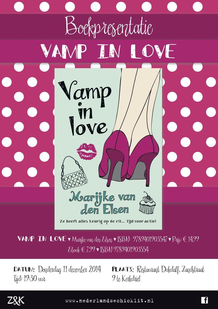 Vamp in Love kwam eind 2014 uit en is het vervolg op Vamp on Heels. Dit is de poster van de boekpresentatie.