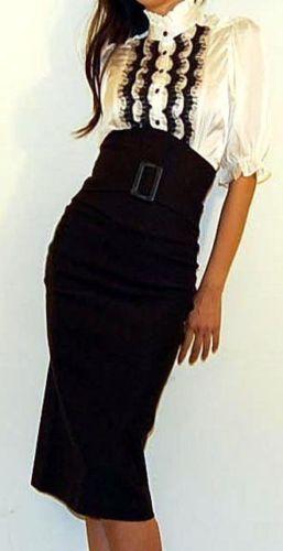 high waisted skirt ♥... > really like this skirt.. no so much the shirt though #kanyeshrug!