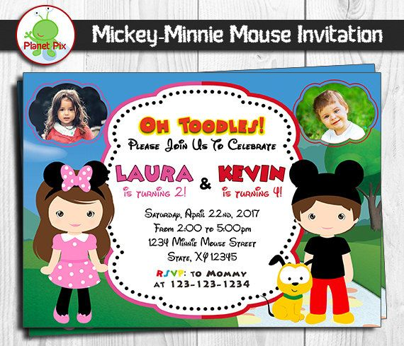 25 best double birthday invitations images on pinterest | birthday, Birthday invitations