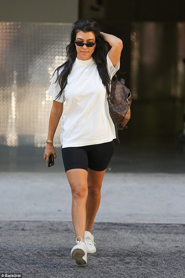 f428a540c83 Kourtney Kardashian rocked a casual look when she stepped out in LA s  Calabasas on Tuesday