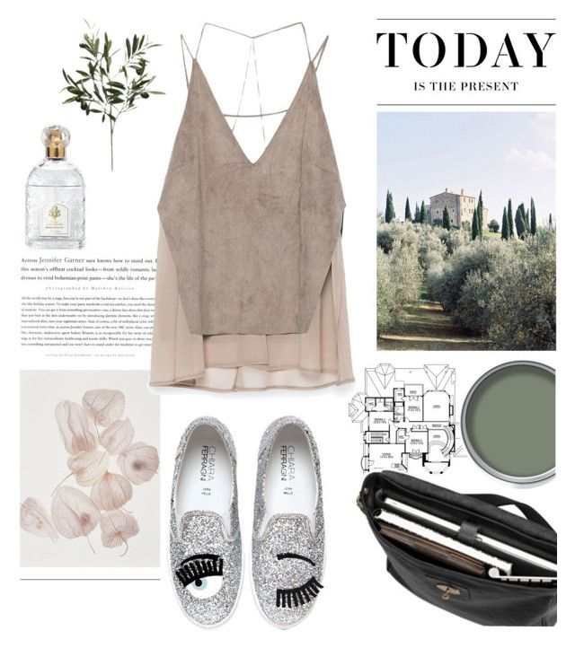 Dreamy Tuscany by kelly-m-o on Polyvore featuring polyvore, fashion, style, Zara, Chiara Ferragni, Mulberry, Guerlain, Levi's and Castello