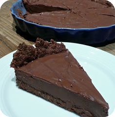 Tarte au chocolat vegan et à IG bas (le rêve...)