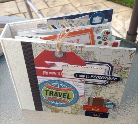 SALE Travel Scrapbook Kit or Premade Mini Album by ArtsyAlbums
