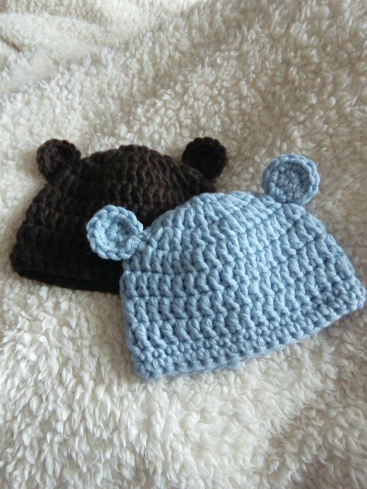 Baby Mütze mit Teddyohren Häkeln https://youtu.be/QPdPVoihtQE #häkeln #baby#kostenlos#häkelanleitung