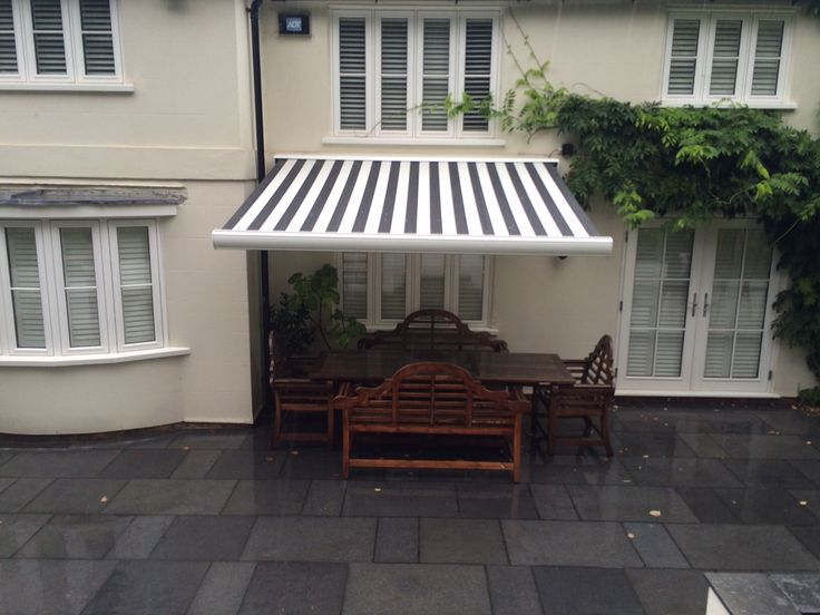 The Kenley Looks Super On The Back Of This Beautiful House By Deans Blinds  And Awnings