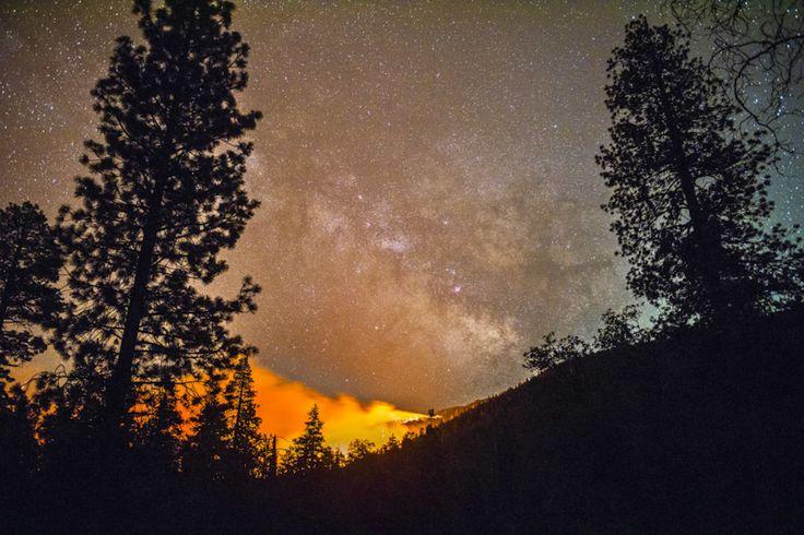 Stunning Long-Exposure Photographs Of Californian Wildfires - UltraLinx