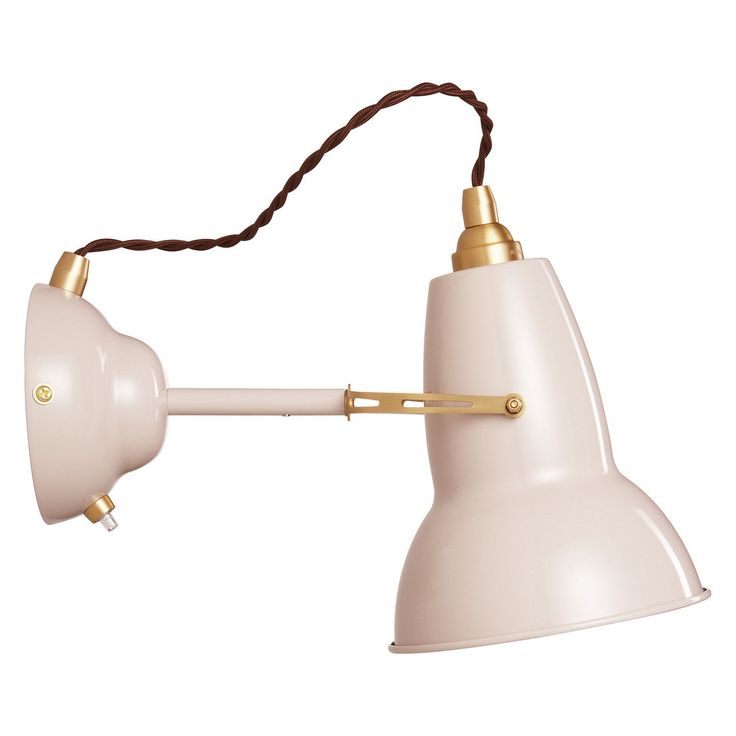 Anglepoise Original £125 Brass Wall Light, Light Taupe Online at johnlewis.com