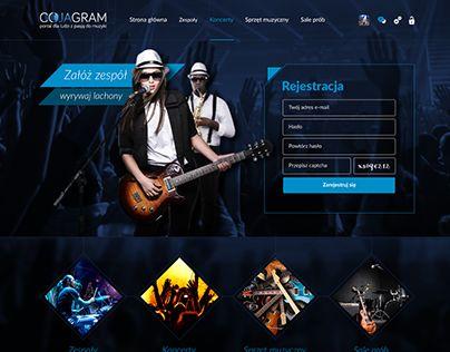 mateuszlomber.com - Grafik komputerowy, Designer // Webdesign for CoJaGram - social site for musicians. #designer #music #musician #musicians #web #webdesign #design #grafik #portfolio #social #graphic