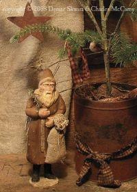 Christmas primitive greeting card: Primitive Santa, Christmas Thyme, Prim Christmas, Primitive Christmas, Winter Christmas, Christmas Holiday, Primitives Christmas, Belsnickle Christmas, Christmas Primitives