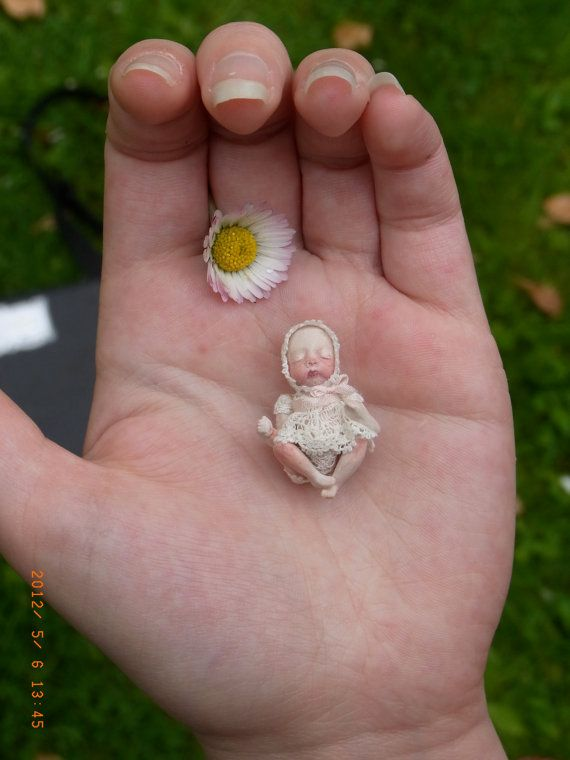 One Of A Kind Miniature Baby 12th scale Doll by MarianneCornish