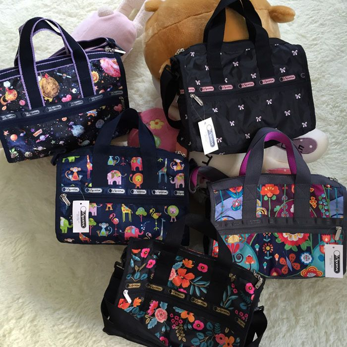 Lesportsac Canvas Handbag 7384 34*3*17CM 35USD