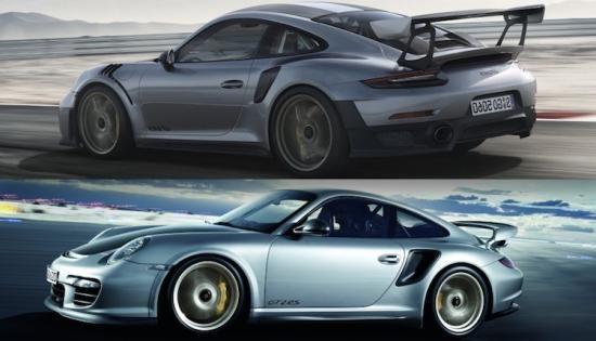 Vergelijking: de nieuwe Porsche 911 GT2 RS vs de oude