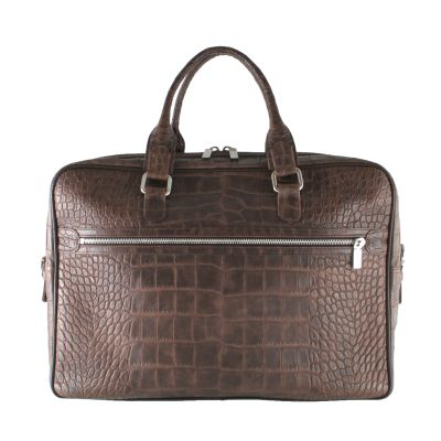 Unique croc-effect leather briefcase, in a variety of colours