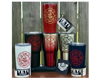 YETI - FIREFIGHTER Thin Red Line Yeti Cup Mug 20oz 30 oz Tumbler custom gift idea unique fire department station fireman firemen fighter