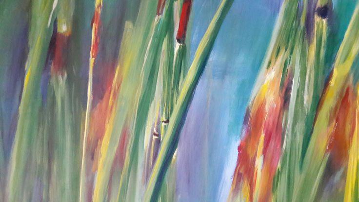Detail tall grass, oil on canvas, GMM, 2011