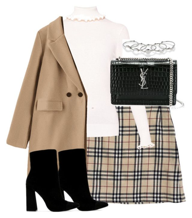 """""""Untitled #5130"""" by theeuropeancloset on Polyvore featuring Burberry, Public Desire, Yves Saint Laurent and MANIAMANIA"""