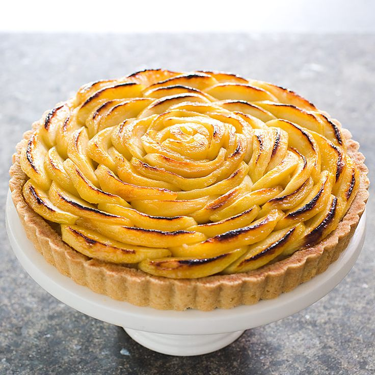 The shortbread-like crust can hold up to the five pounds of Granny Smith apples that go into this French Apple Tart.