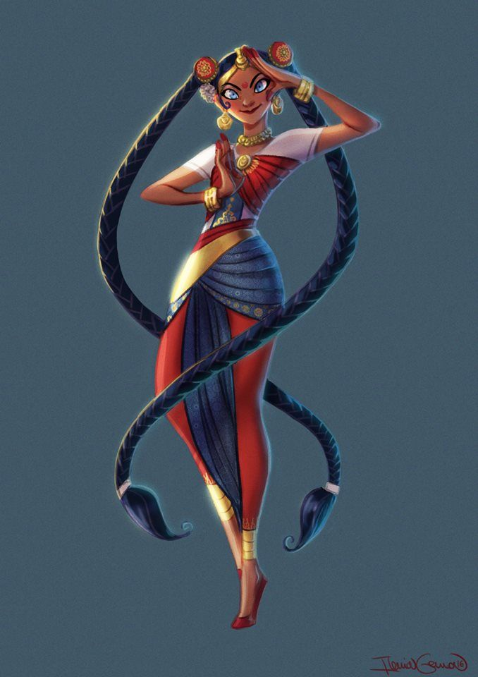 Character Design Challenge Sailor Moon : Indian sailor moon for the themed character