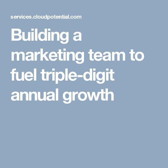 Building a marketing team to fuel triple-digit annual growth