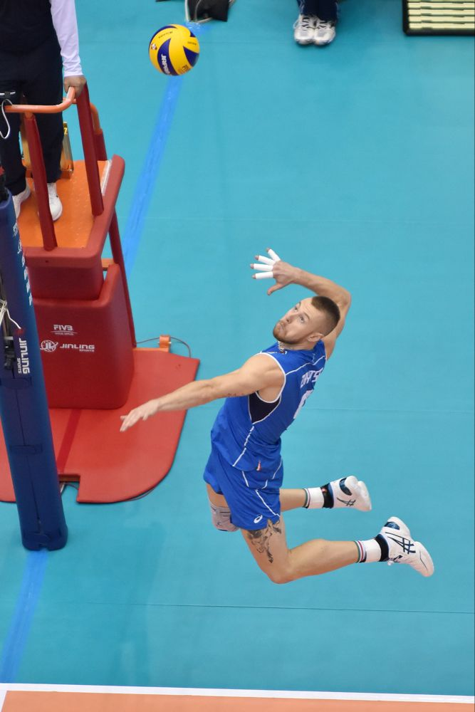 Ivan Zaytsev Spikes The Ball In The Match Against Australia Volleyball Wallpaper Mens World Cup Volley