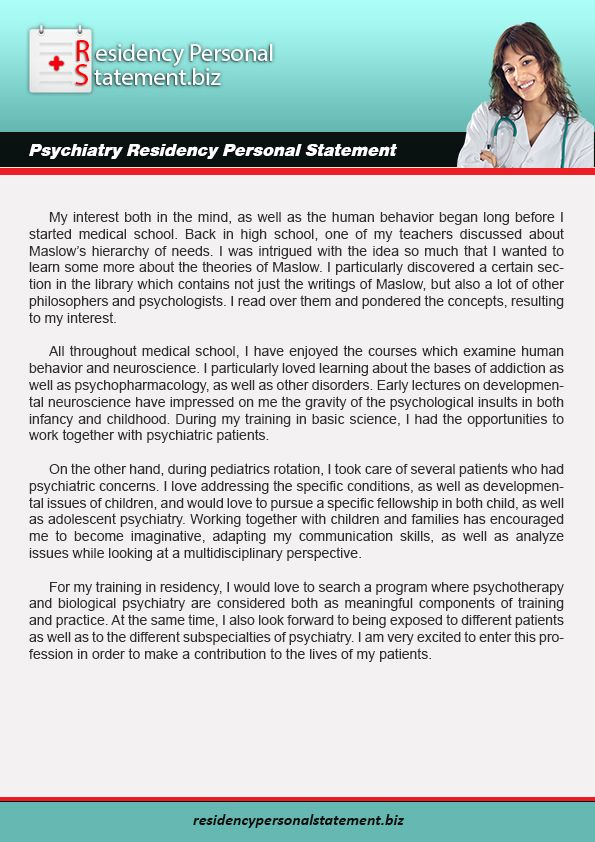 Pin On Psychiatry Residency Personal Statement