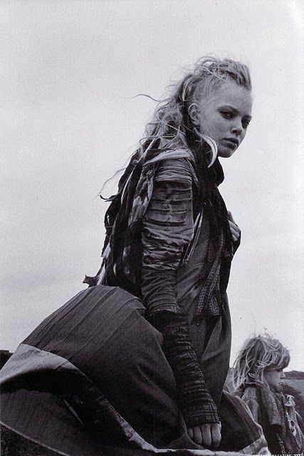 mad max locks....apocalypse fashion, apocalyptic dress, post-apocalyptic/dystopian fashion, post-apocalypse