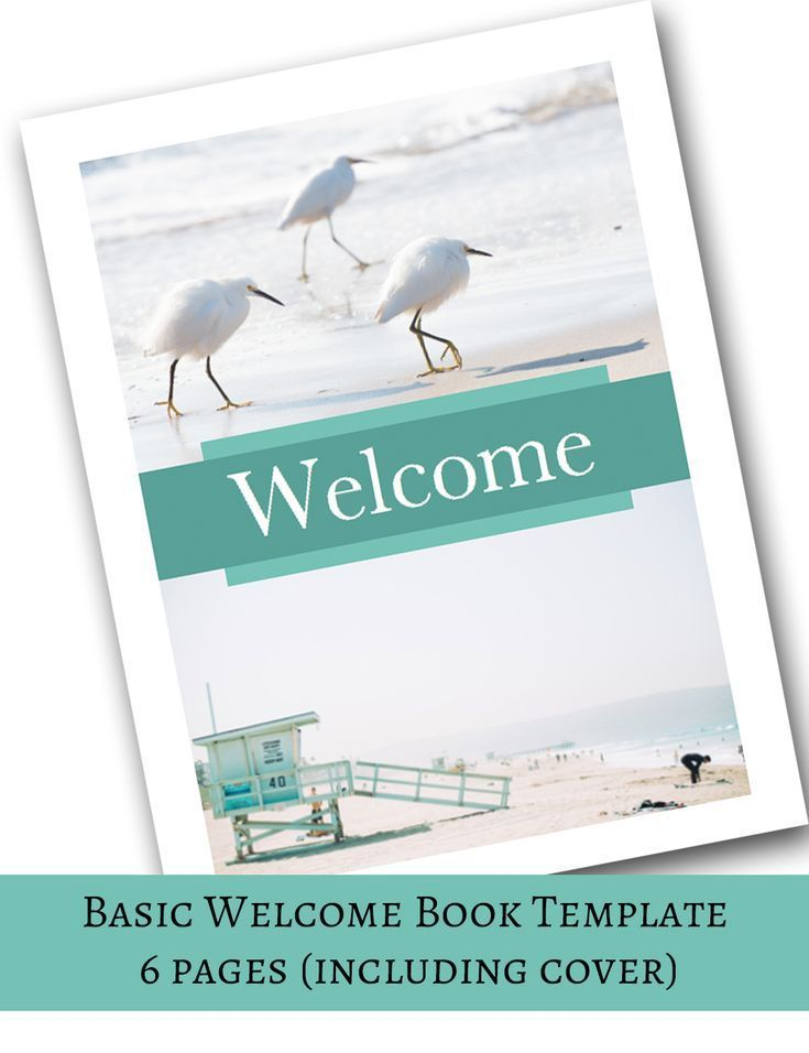 Basic Welcome Book -- Vacation Home Printable Template, Airbnb - rental agreement letters