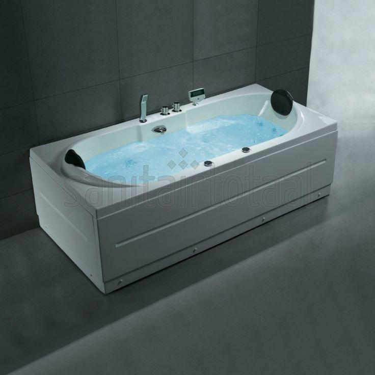 W0829-WL 2 Persoons whirlpool bad. Rechthoekig model, voorzien van water- en luchtmassage. Afmetingen: 900x1900