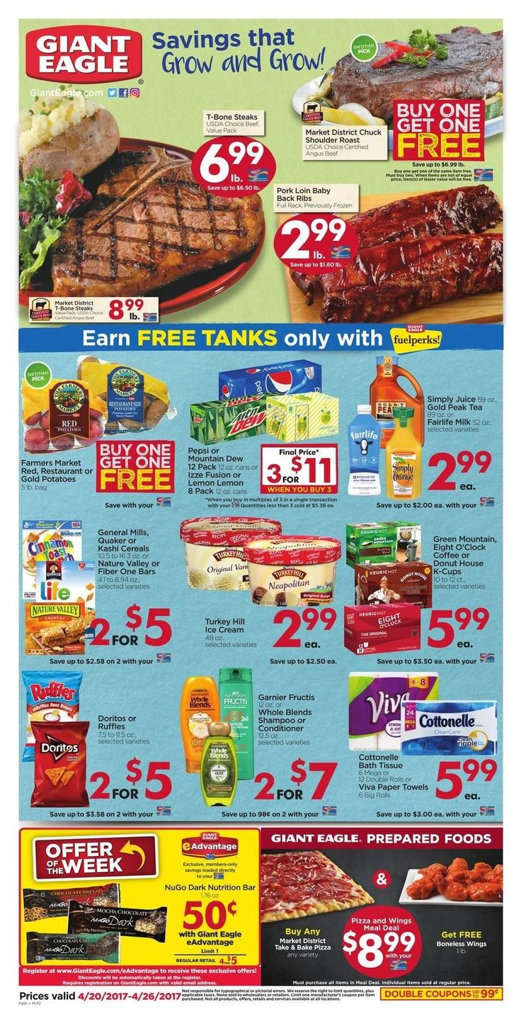 Giant Eagle Weekly Ad Circular 4/20 - 4/26 United States #grocery #savings #GiantEagle