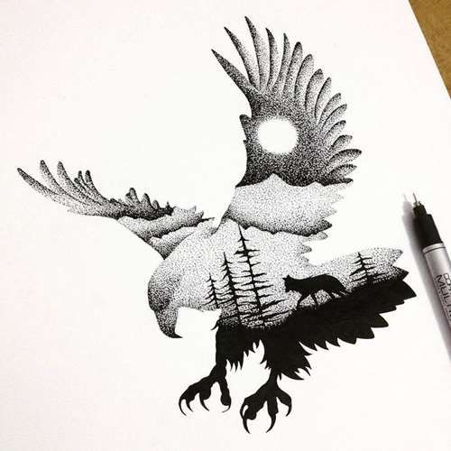 Bird Tattoo Concept - Tattoo Shortlist