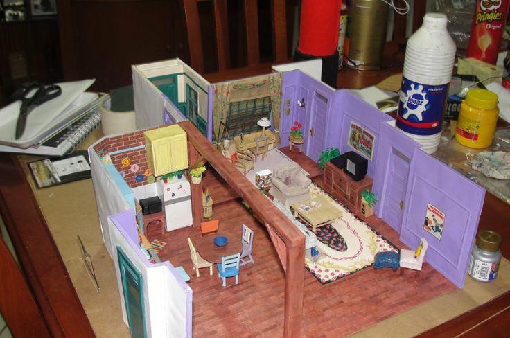 Apartamento do Friends em papel! http://vilabacana.com.br/acontece/artistas-brasileira-faz-apartamento-friends-em-papel/