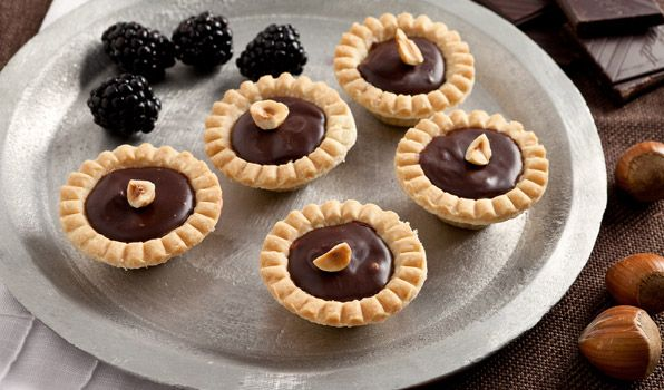 Chocolate Hazelnut Tarts