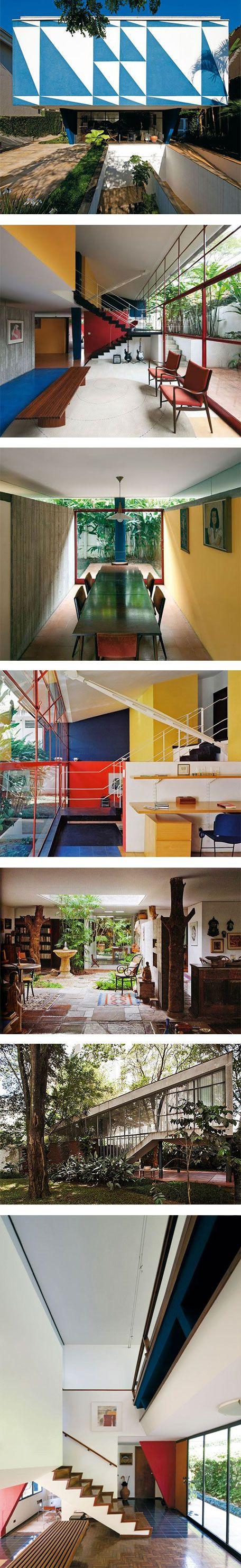 7 beautiful houses by João Vilanova Artigas that will make you want to live in Brazil via Nuji.com