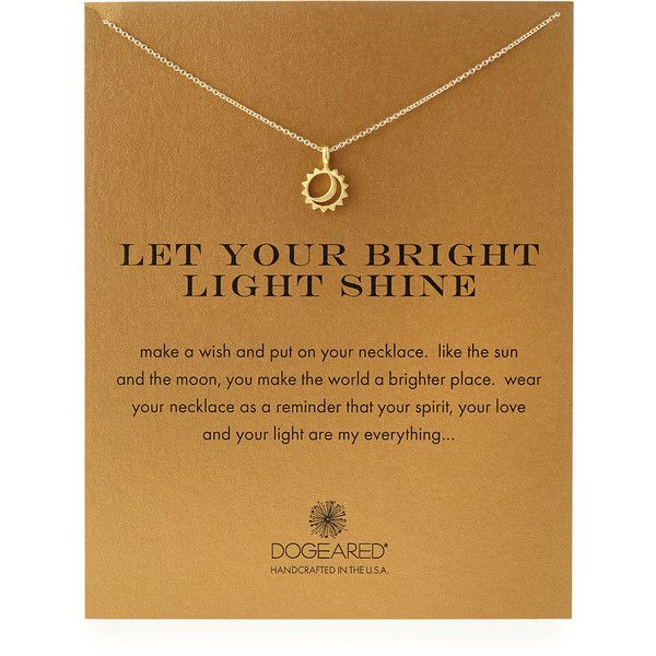 Dogeared Gold-Dipped Let Your Bright Light Shine Necklace - Gold and other apparel, accessories and trends. Browse and shop 2 related looks.
