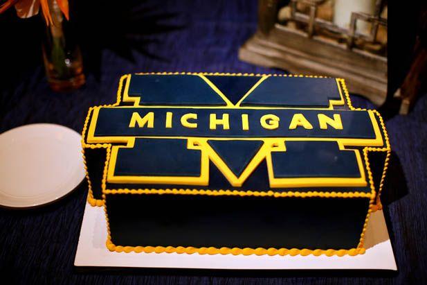 University of Michigan groom's cake