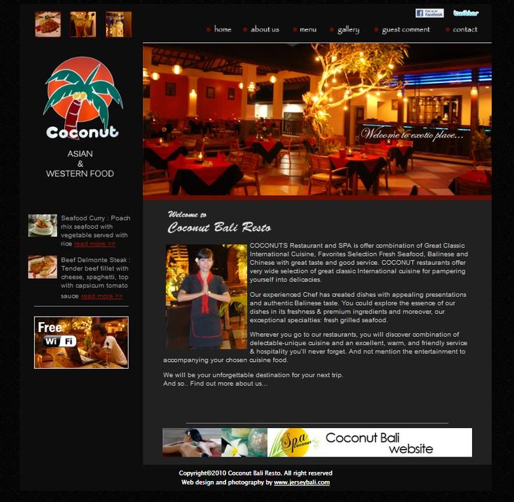 Coconut Resto  web design, web development
