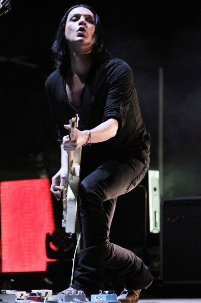 Brian Molko from Placebo's iTunes performance