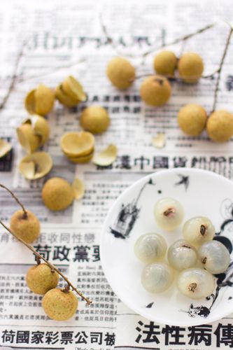 Longan fruit The fruit is sweet, juicy and succulent in superior agricultural varieties and, apart from being eaten fresh, is also often used in East Asian soups, snacks, desserts, and sweet-and-sour foods, either fresh or dried, sometimes canned with syrup in supermarkets. The taste is different from lychees; while longan have a drier sweetness, lychees are often messily juicy with a more tropical, sour sweetness.  Asia