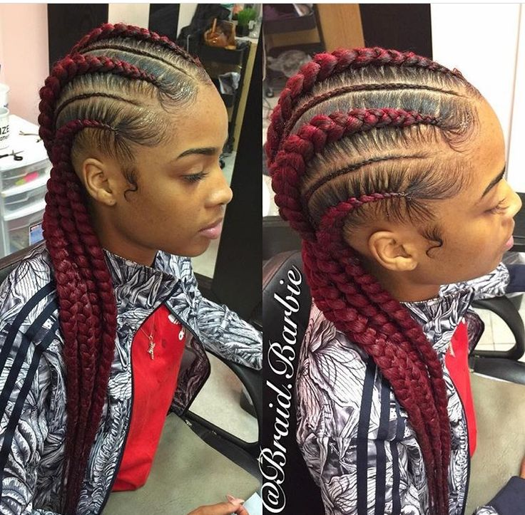 Feed In Braids Natural Hair Style Braids Pinterest