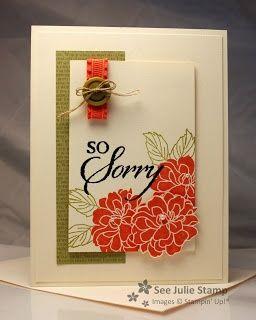 Lovely handstamped sympathy card  i STAMP by Nancy Riley