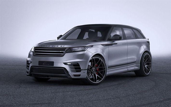 Download wallpapers Range Rover Velar CLR GT, 2018 cars, tuning, Lumma Design, Land Rover, Range Rover Velar, SUVs, Range Rover