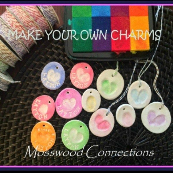 Fingerprint charms DIY gift and fin motor art activity