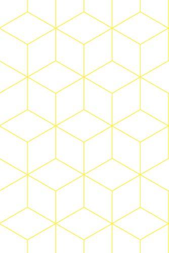 zlvrblw-wallpaper-hexagonal-yellow                                       www.zilverblauw.nl