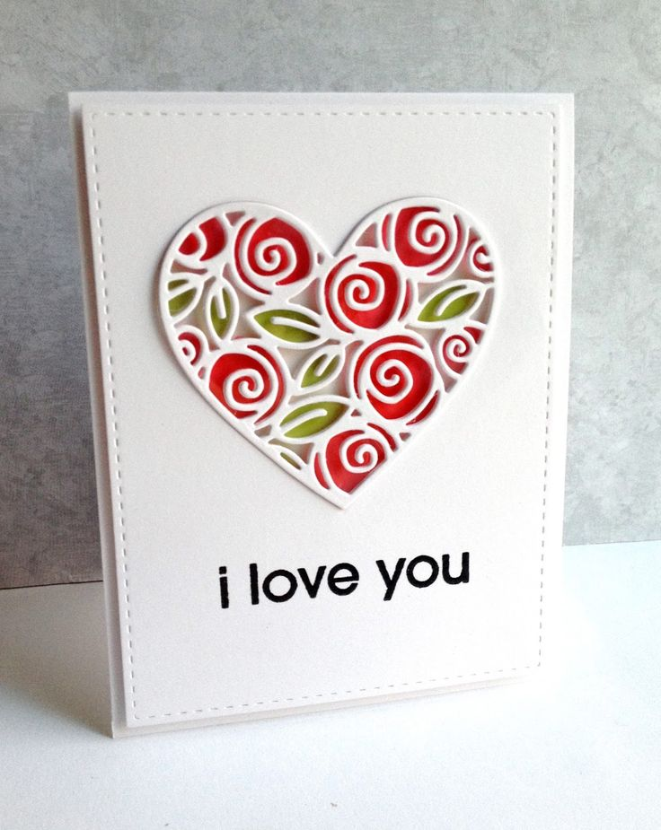 1468 best images about CardsHearts – Valentine Heart Cards