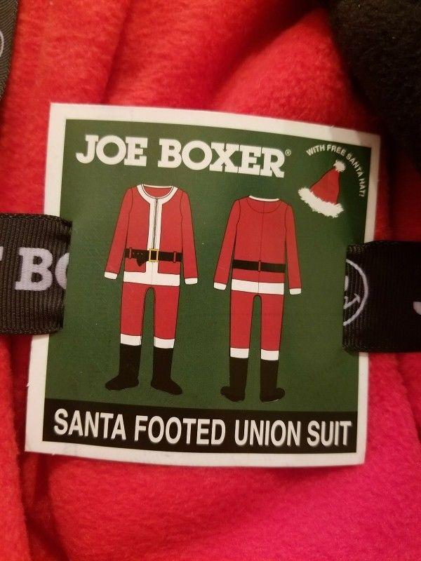 Men\'s Joe Boxer Santa Claus One Piece Union Suit Pajamas Medium W ...