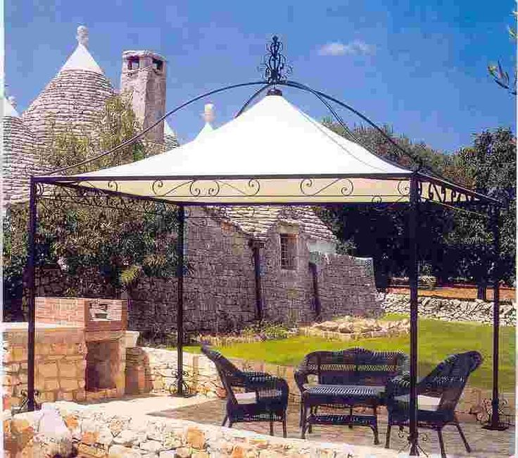 Maybe we can make this with an aged copper-green patina but without the canvas · Iron PergolaGazeboCanvas CanopyPowder ... & 76 best Wrought Iron - Gazebos. Arches. Pergolas images on ...