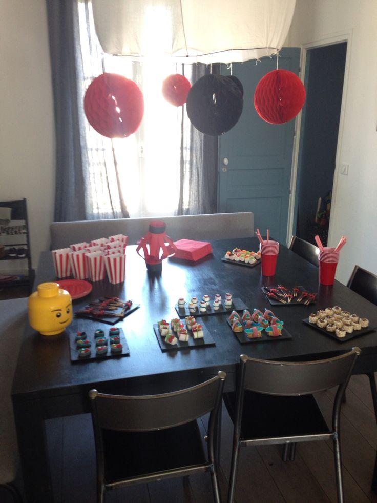 ... table anniversaire ninjago  Ninjago birthday  Pinterest  Tables