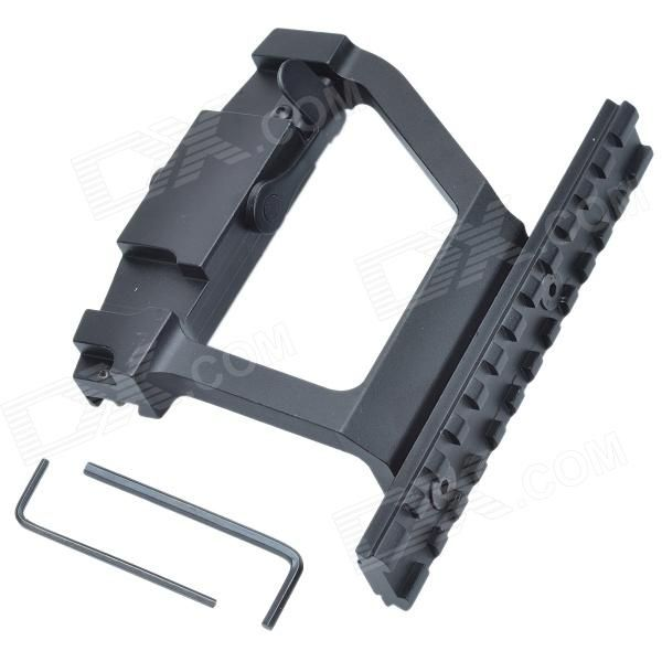 20mm Rail Aluminum Alloy Scope Mount Base for AK74 - Black Price: $19.33